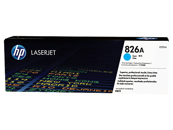 HP 826A Cyan Original LaserJet Toner Cartridge, CF311A