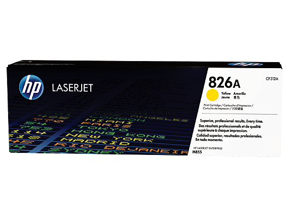HP 826A Yellow Original LaserJet Toner Cartridge, CF312A
