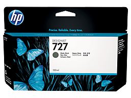 HP 727 130-ml Matte Black DesignJet Ink Cartridge