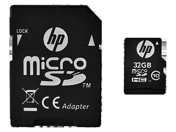 HP High Speed Flash Memory mi200 32 GB MicroSDHC Card - Center