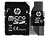 HP High Speed Flash Memory mi200 16 GB MicroSDHC Card - Center