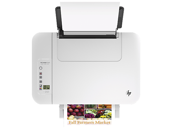 HP Deskjet 2540 All-in-One Printer - Top view closed