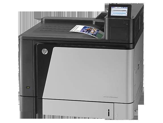HP Color LaserJet Enterprise M855dn Printer - Left