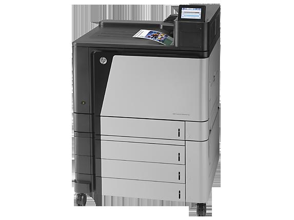 HP Color LaserJet Enterprise M855xh Printer - Left