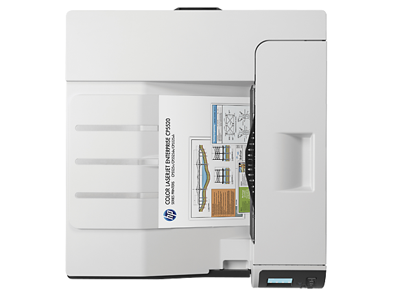 HP Color LaserJet Enterprise M750dn - Top view closed