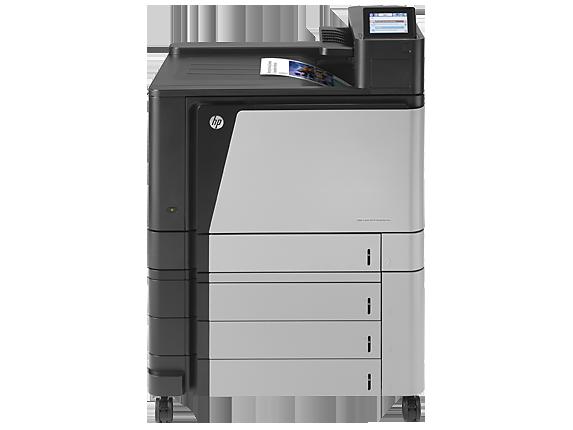 HP Color LaserJet Enterprise M855xh Printer - Center