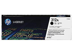 HP 312A Black Original LaserJet Toner Cartridge, CF380A