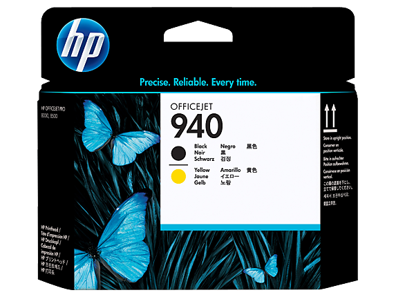 HP 940 Black and Yellow Original Printhead, C4900A