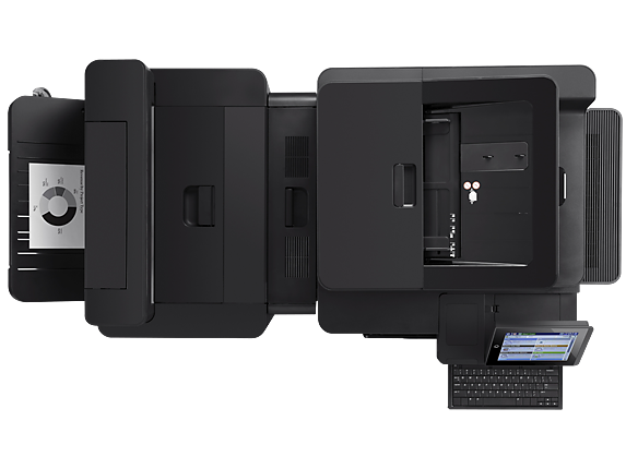 HP LaserJet Enterprise flow MFP M830z NFC/Wireless Direct - Top view closed