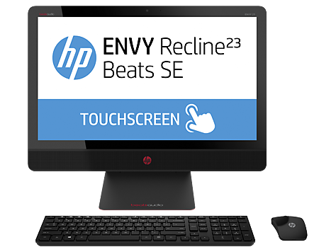 סדרת מחשבים שולחניים HP ENVY Recline 23-m200 TouchSmart Beats SE All-in-One