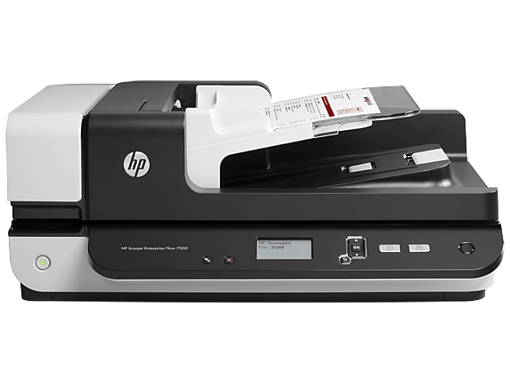 HP Scanjet Enterprise Flow 7500 Flatbed Scanner - Center