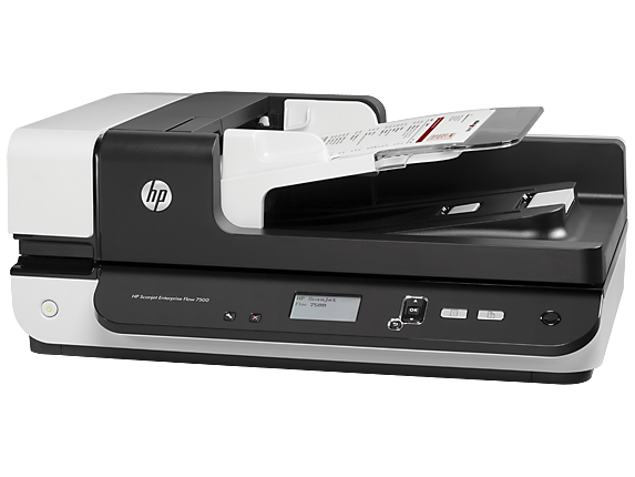 HP Scanjet Enterprise Flow 7500 Flatbed Scanner - Left