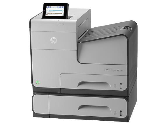 HP OfficeJet Enterprise Color X555xh - Left