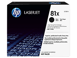 HP 81X High Yield Black Original LaserJet Toner Cartridge, CF281X