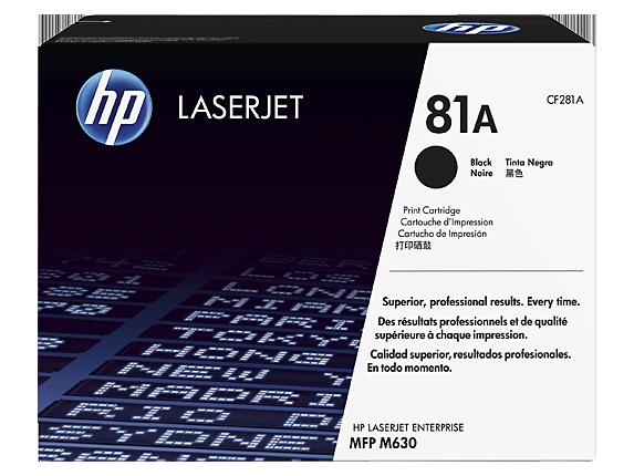 HP 81A Black Original LaserJet Toner Cartridge, CF281A - Center
