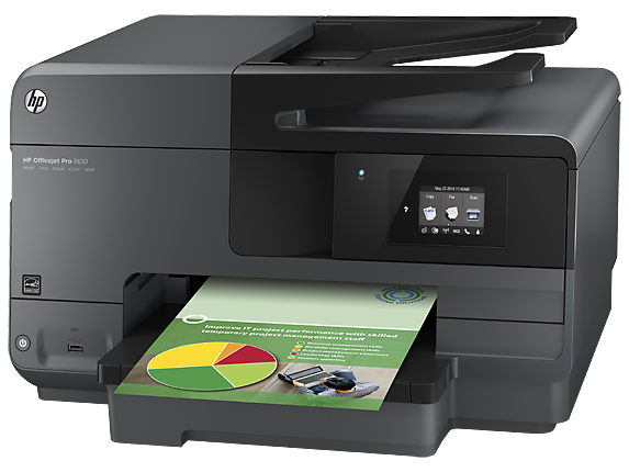 HP Officejet Pro 8610 e-All-in-One Printer - Left
