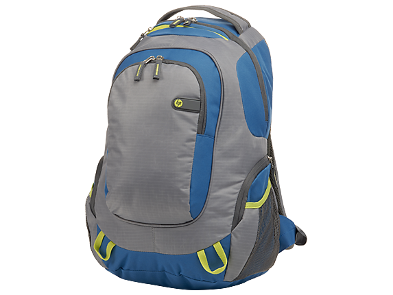 HP Outdoor Sport Green/Blue Backpack - Left
