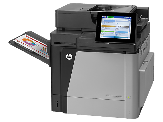 HP Color LaserJet Enterprise MFP M680dn - Left