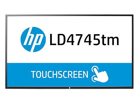 Pantalla LED interactiva de 46.96 pulgadas HP LD4745tm Digital Signage