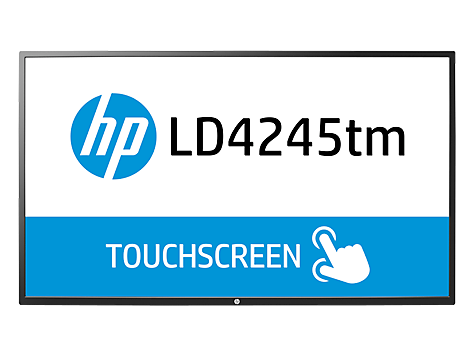 Pantalla LED interactiva de 41.92 pulgadas HP LD4245tm Digital Signage