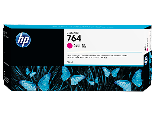 HP 764 300-ml Magenta DesignJet Ink Cartridge