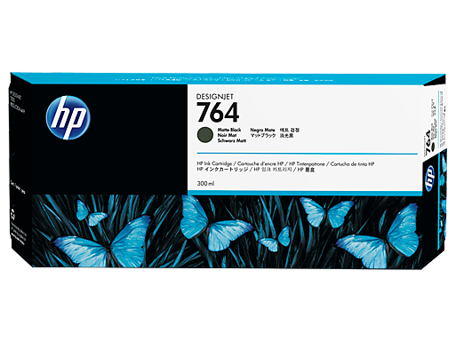 HP 764 300-ml Matte Black DesignJet Ink Cartridge