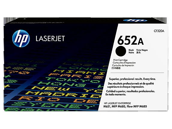 HP 652A Black Original LaserJet Toner Cartridge, CF320A - Center
