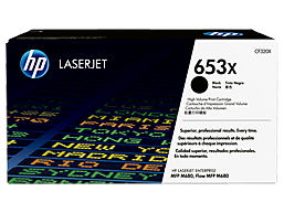 HP 653X High Yield Black Original LaserJet Toner Cartridge, CF320X