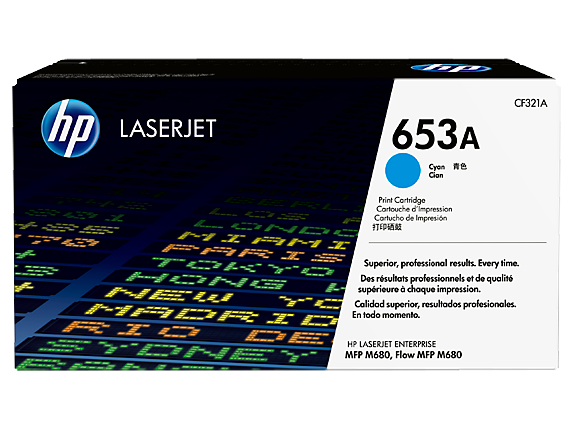 HP 653A Cyan Original LaserJet Toner Cartridge, CF321A
