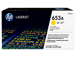 HP 653A Yellow Original LaserJet Toner Cartridge, CF322A