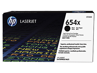 HP 654 Toner Cartridges