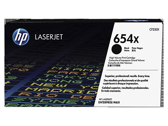 HP 654X High Yield Black Original LaserJet Toner Cartridge, CF330X