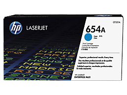 HP 654A Cyan Original LaserJet Toner Cartridge, CF331A