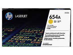 HP 654A Yellow Original LaserJet Toner Cartridge, CF332A