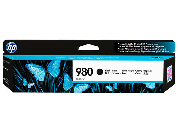 HP 980 Black Original Ink Cartridge - Center