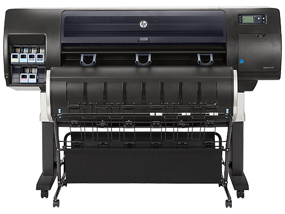 HP DesignJet T7200 42-in Production Printer - Rear