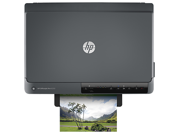 HP OfficeJet Pro 6230 ePrinter - Top view closed