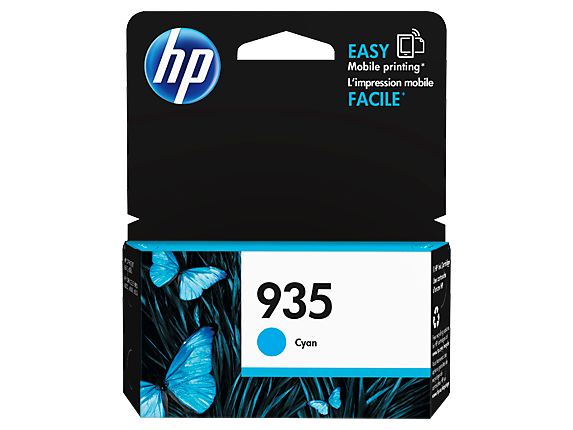 HP 935 Cyan Original Ink Cartridge - Center