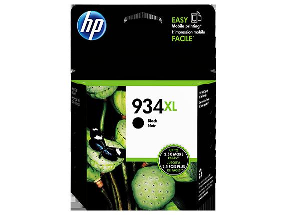 HP 934XL High Yield Black Original Ink Cartridge - Center
