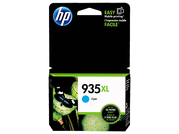HP 935XL High Yield Cyan Original Ink Cartridge - Center