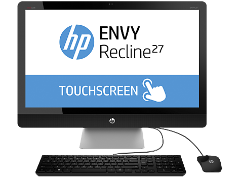 סדרת מחשבים שולחניים HP ENVY Recline 27-k400 TouchSmart All-in-One