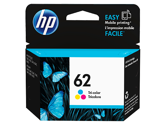 HP 62 Tri-color Original Ink Cartridge - Center