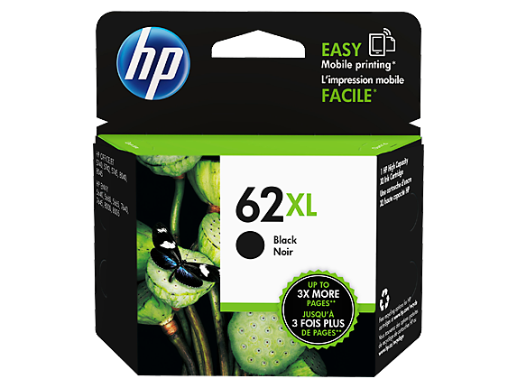 HP 62XL High Yield Black Original Ink Cartridge - Center