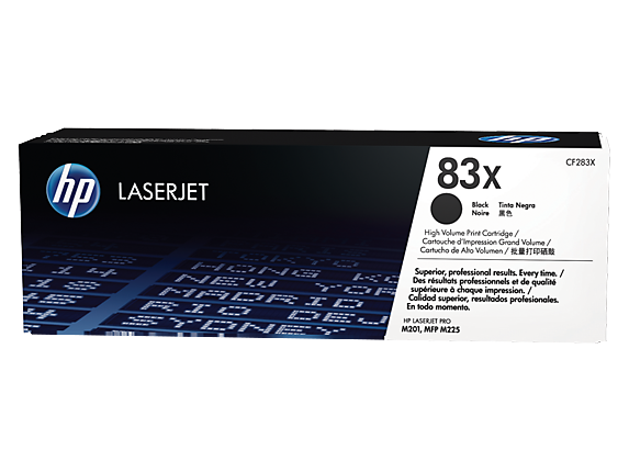 HP 83X High Yield Black Original LaserJet Toner Cartridge, CF283X