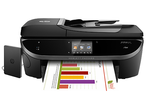 HP Officejet 8040 with Neat e-All-in-One Printer series