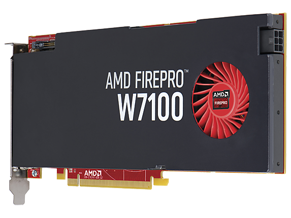 AMD FirePro W7100 8GB Graphics Card - Left