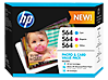 HP 564 Photo and Card Value Pack-50 sht/4 x 6 in and 10 sht/5 x 7 in - Center