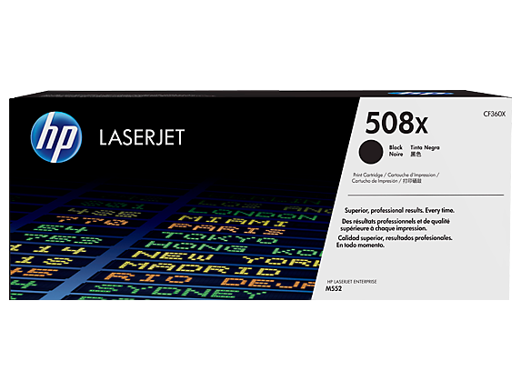 HP 508X High Yield Black Original LaserJet Toner Cartridge, CF360X