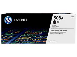 HP 508A Black Original LaserJet Toner Cartridge, CF360A