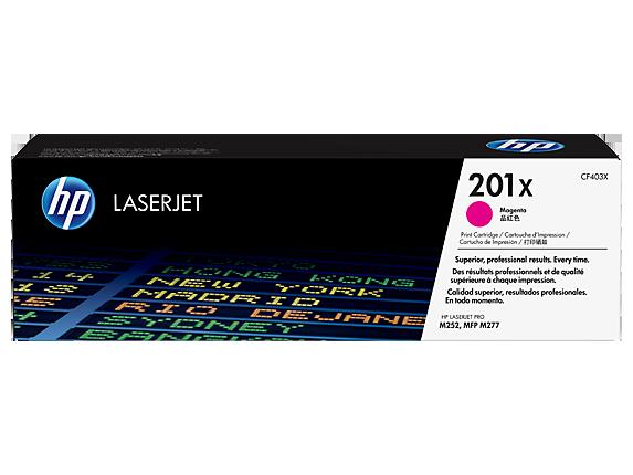 HP 201X High Yield Magenta Original LaserJet Toner Cartridge (CF403X) - Center
